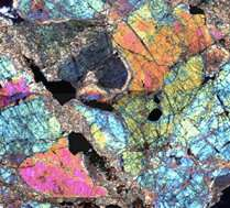 Mars meteorite in polarized light