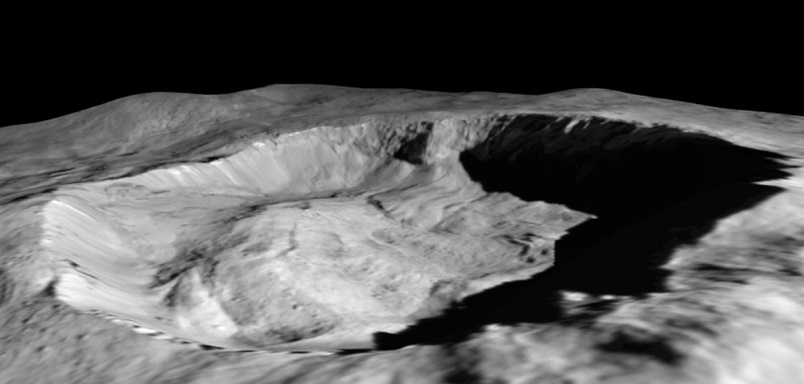 Juling Crater on Ceres